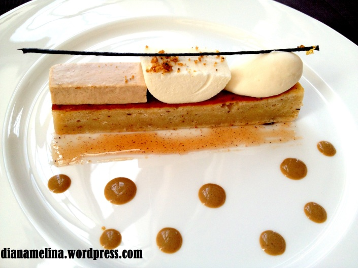 Dolci : Coffee and banana mousse with amaretto ice cream